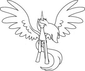 my little pony alicorn coloring pages mlp base deviantart alicorn outline painting ideas
