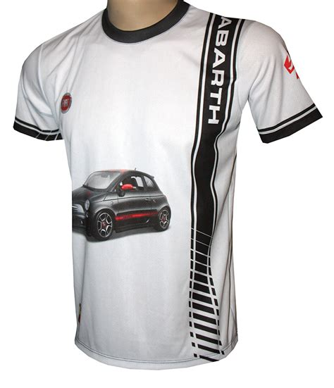 fiat abarth t shirt with logo and all printed picture