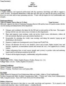 cv writing interests and hobbies
