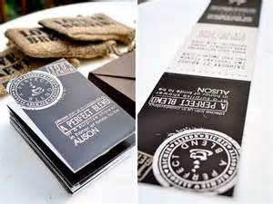 unique coffee themed wedding invitations invitation crush