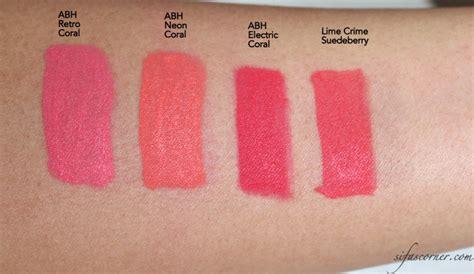 Lipstik Inez Spicy review lime crime velvetines sifa s corner