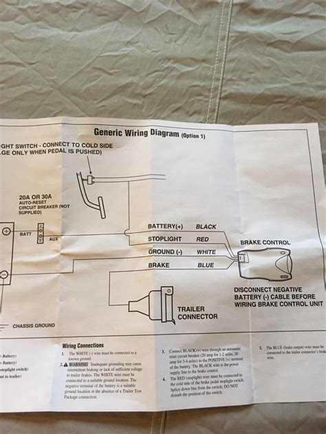 pod brake wiring diagram