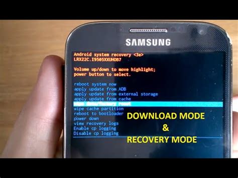 mode recovery mode wipe data reset factory galaxy s4 s5