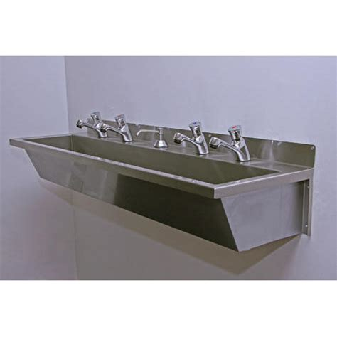 stainless steel commercial wash sinks stainless steel trough sink kmworldblog com