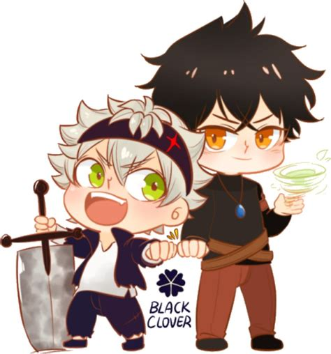 Stiker Anime Black Clover quot black clover chibi asta and yuno quot stickers by aesthetickiwi redbubble