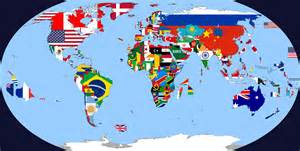 World Map Flags by Just Finished My Flag Map Of The World Oc 4972x2517