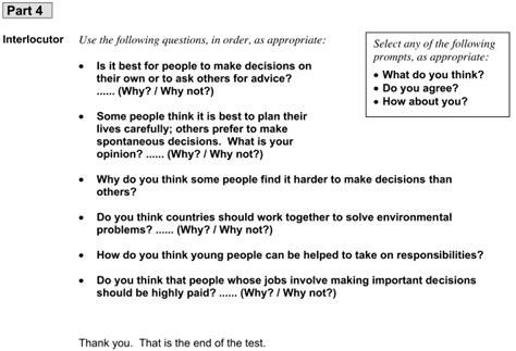 preguntas b1 ingles speaking cae speaking exam free exle questions intercambio