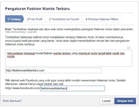 membuat facebook id panduan membuat facebook page untuk bisnis anda