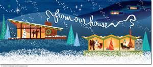 Christmas Decorated Homes vintage christmas cards vintage style christmas cards