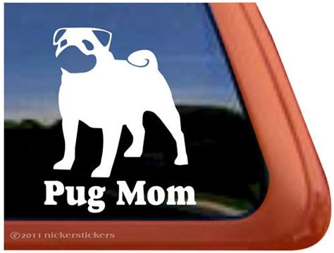 pug car sticker gift ideas for pug