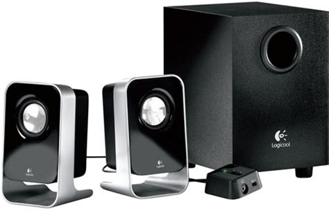 cool stereo systems latest computer gadgets logitech ls21 2 1 stereo speaker