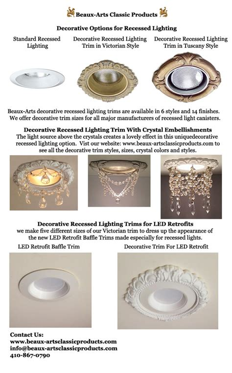 types of can lights decorative recessed light trim options beaux arts