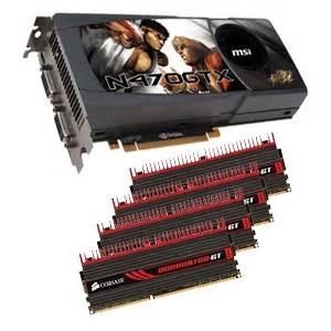 Ram Msi msi geforce gtx 470 card w corsair dominator gt 8gb pc15000 ddr3 memory bundle at