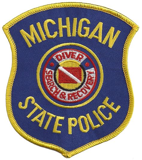 Michigan State Search Michigan State Search And Rescue Diver Patch