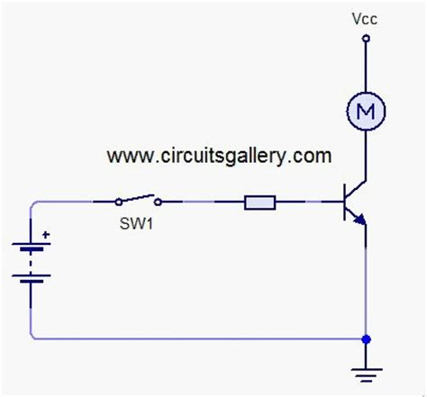 transistor driving inductive load high current transistor switch for dc motor circuit circuits gallery