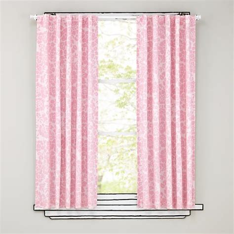 curtains pink floral blackout curtains pink the land of nod