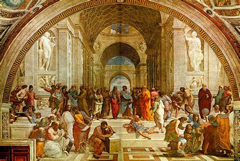 best place for paint school of athens by raphel one of the fathers of the
