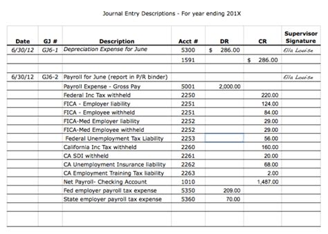 excel journal entry template accounting journal entry template