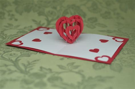 twisting hearts pop up card template free free spiral pop up card templates search