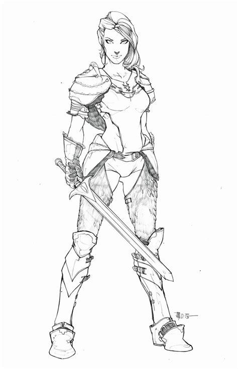 warrior girl coloring page warrior princess by harpokrates on deviantart