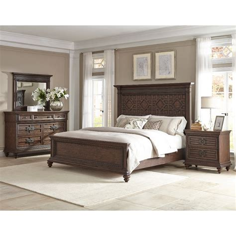 Cal King Bedroom Furniture Set by Palencia Rustic Brown 6 Cal King Bedroom Set