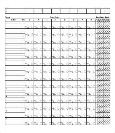 baseball box score template 12 softball score sheet templates pdf doc free