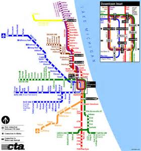 El Map Chicago by Chicago El Train Map Bing Images