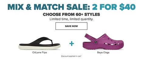 Mix Match On Sale by Crocs Canada Mix Match Sale 2 For Only 40 Canadian