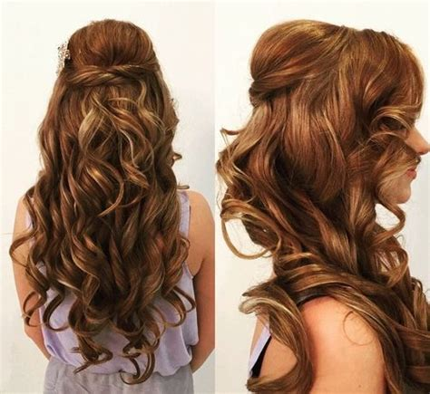 down hairstyles for everyday long curly half up down hairstyles hair