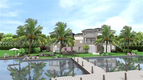 187 tropical landscape design for new waterfront home in