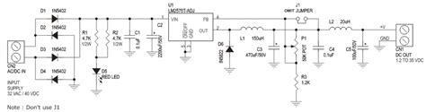 Bench Power 1 2v To 35v Adjustable Power Supply Using Lm2576 Adj Step
