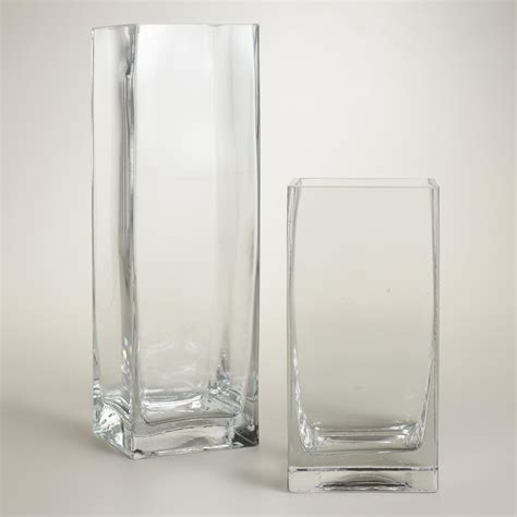 Vase Clear Glass by Clear Glass Square Vases World Market