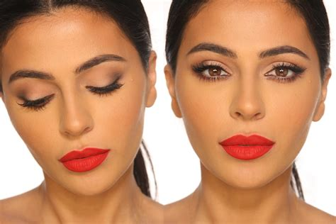 natural makeup tutorial with red lips 50 easy makeup tips to rev your morning routine