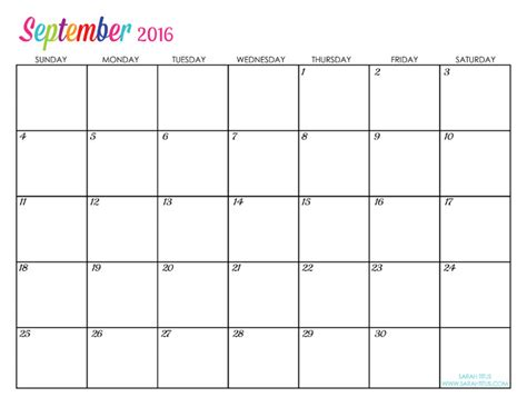 printable monthly planner 2015 september custom editable free printable 2016 calendars sarah titus