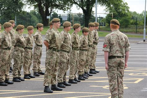 army section 8 brooke weston trust ccf passing out parade east midlands