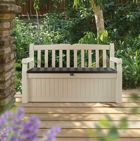 Eden Plastic Garden Storage Bench   Departments   DIY at B&Q