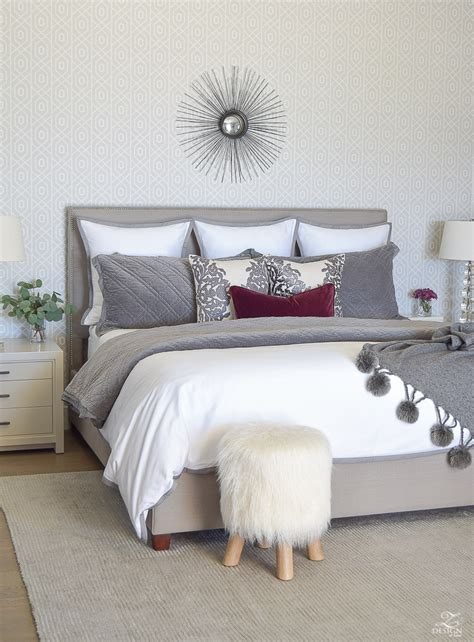 grey and white winter bedding bedroom decor pinterest fall winter master bedroom updates zdesign at home