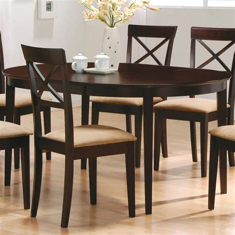 coaster mix match 100770 oval dining leg table dunk