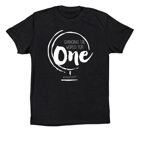 design a shirt fundraiser schaaps adoption t shirt design change the world for one