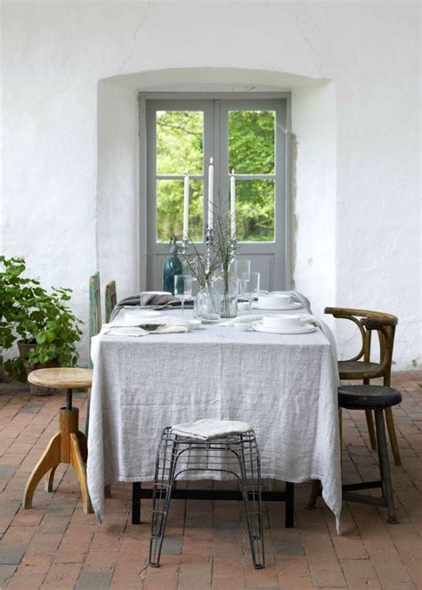 dining room tablecloths tablecloths rustic and table settings on pinterest