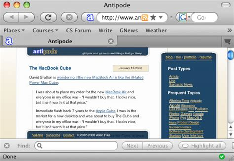 mozilla mac themes firefox s new mac theme allen pike