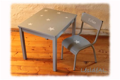 table bureau enfant ensemble table bureau et chaise enfant 233 toile vintage gris