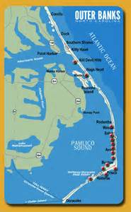 carolina outer banks map hatteras launches