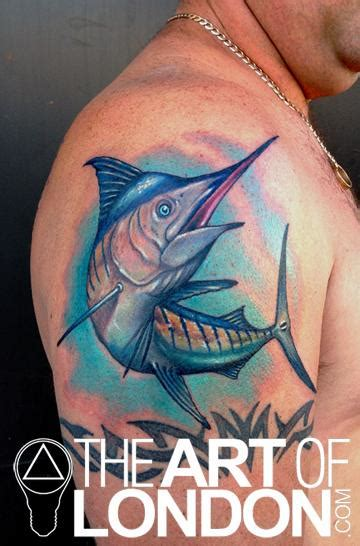 blue marlin tattoo designs marlin color realistic by reese tattoonow