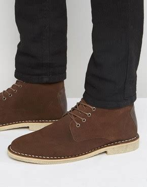 s desert boots leather suede desert boots asos