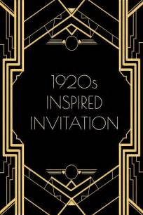 use this 1920s inspired invitation template for a gatsby or flapper themed free to use