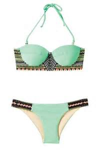 color swimsuits swimwear mint tribal pattern pattern summer