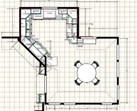 kitchen floor plan with dining area i think the diagonal