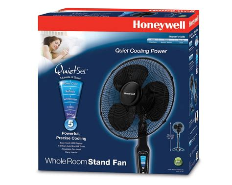 16 inch whole house fan the honeywell hs 1655 quietset 16 quot stand fan black