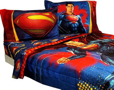 superman bedroom set superman full bedding set super steel comforter sheets